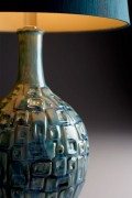 04816 Teal Time Table Lamp Detail