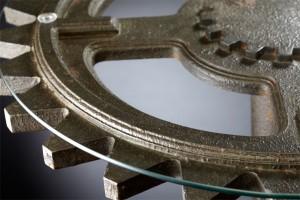 04949 Brnz Gear Table- Lg Detail