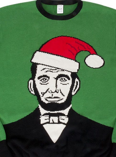 06545_thePHAGshop_Lincoln Santa Ugly Christmas Sweater