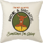100108_thePHAGshop_Funny Deer Rude & Sarcastic Decorative Pillow