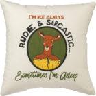100108_thePHAGshop_Funny Deer Rude & Sarcastic Decorative Pillow