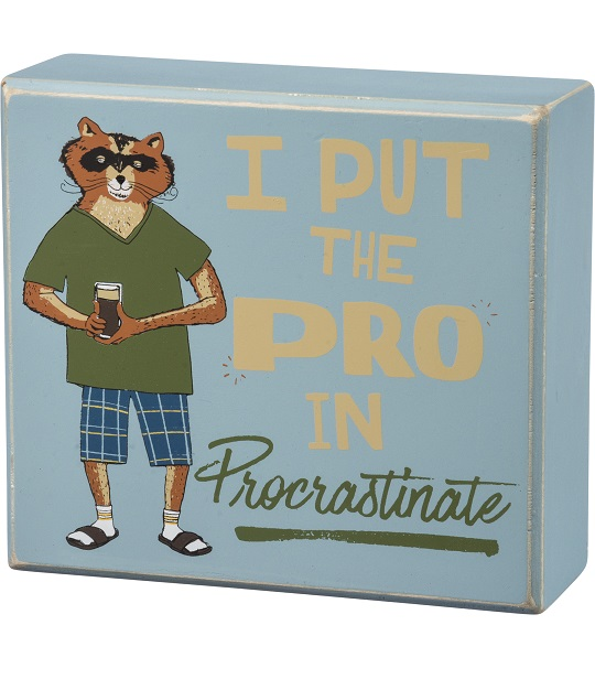 100135_thePHAGshop_Novelty Procrastinate Quote Box Art