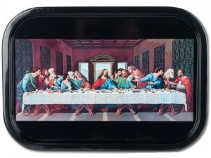12275 Last Supper Metal Serving Tray Detail