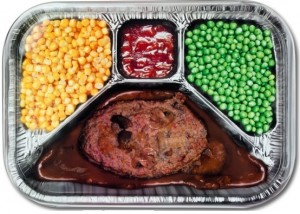 12279 TV Dineer Metal Serving Tray