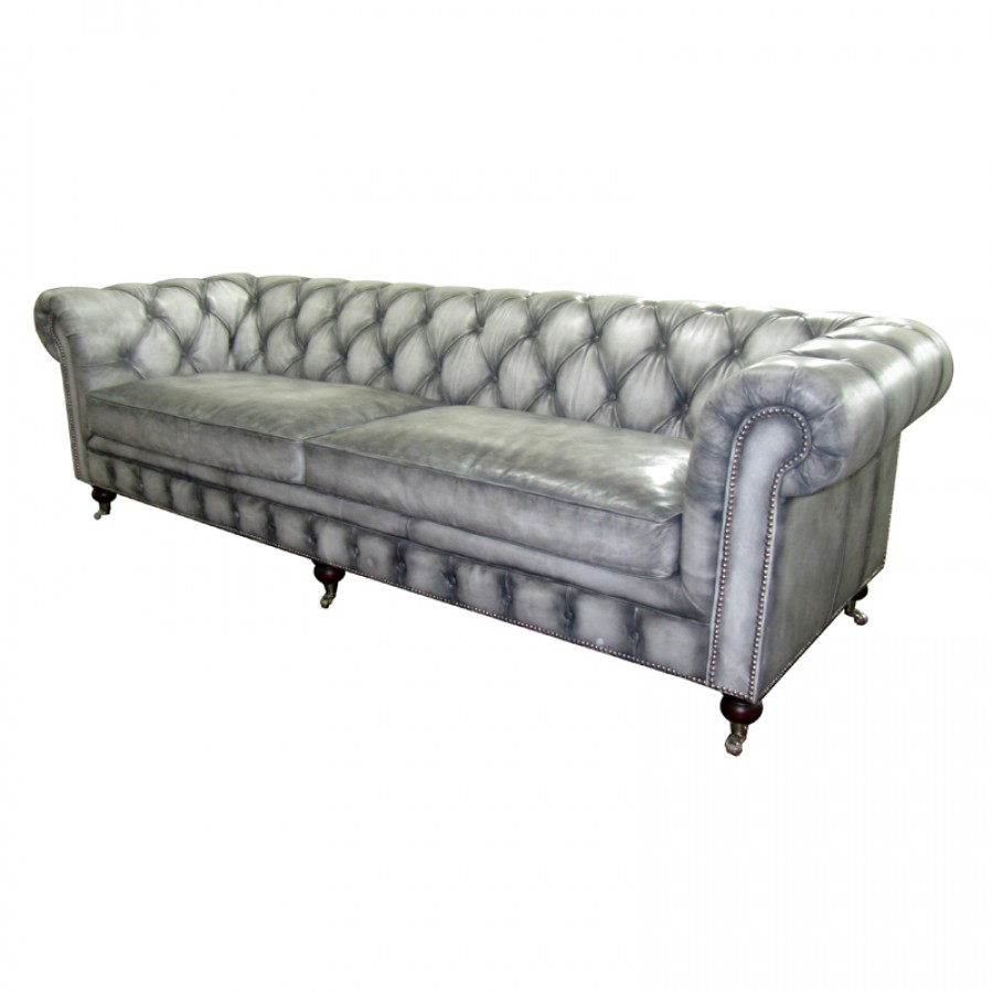 chesterfield tufted sofa gray phag. Black Bedroom Furniture Sets. Home Design Ideas