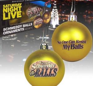 Set 2- SNL Schweddy Ball Ornaments