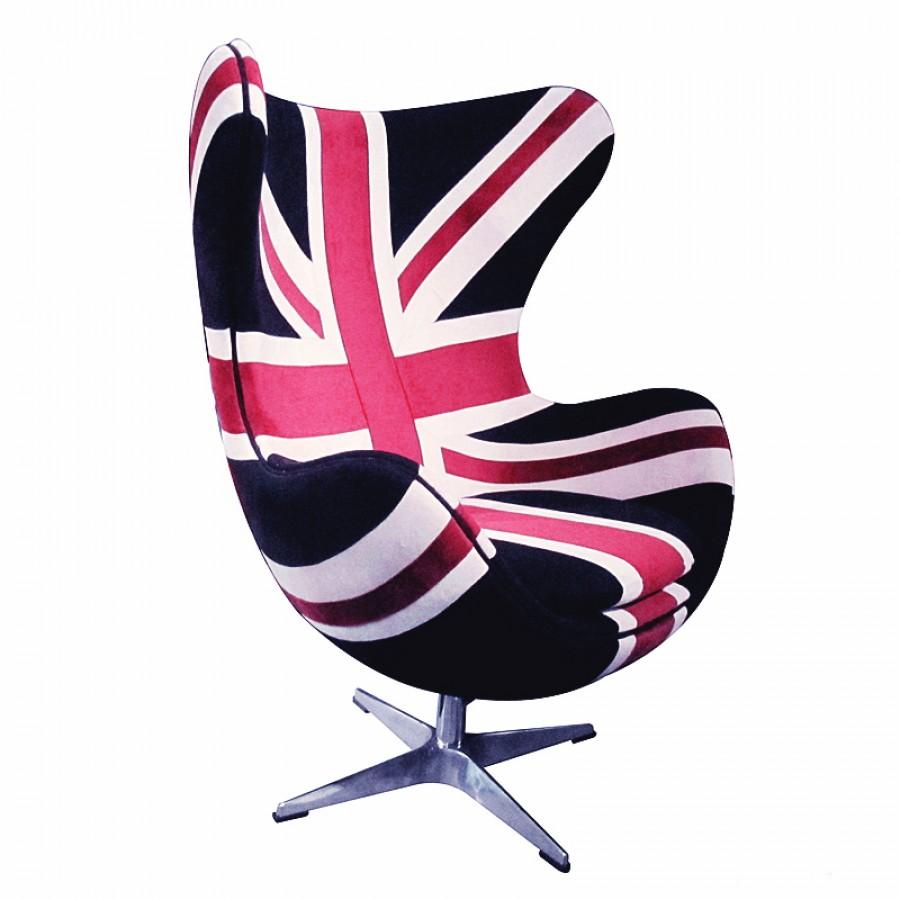 Merveilleux Union Jack Egg Chair  Denim   PHAG