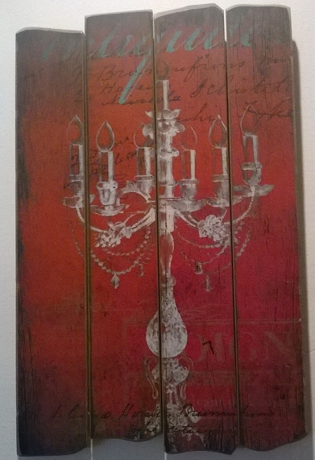 15x24_thePHAGshop_Wood Candelabrum Plank Art- Red