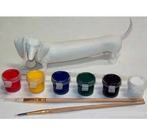 16539_thePHAGshop_Paint Your Own Wiener Dog Sculpture- Detail