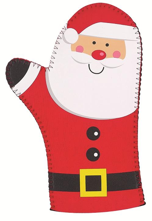 17843 Oven Mitt- Santa