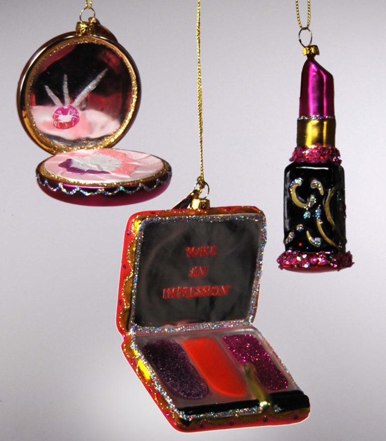 22-24368_thePHAGshop_Blown Glass Makeup Ornaments- Asst.