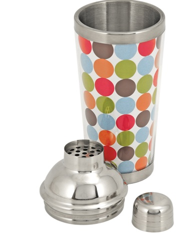 2547 Asorted Mod Cocktail Shakers-Open