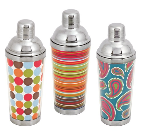2547 Asorted Mod Cocktail Shakers