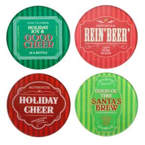 3200_thePHAGshop_Set 4 Glass Christmas Coasters- Holiday Labels
