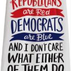 33213_thePHAGshop_Red & Blue Political Poem Dish Towel
