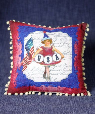 34004_thePHAGshop_Patriotic Petite Girl Pom Pom Pillow
