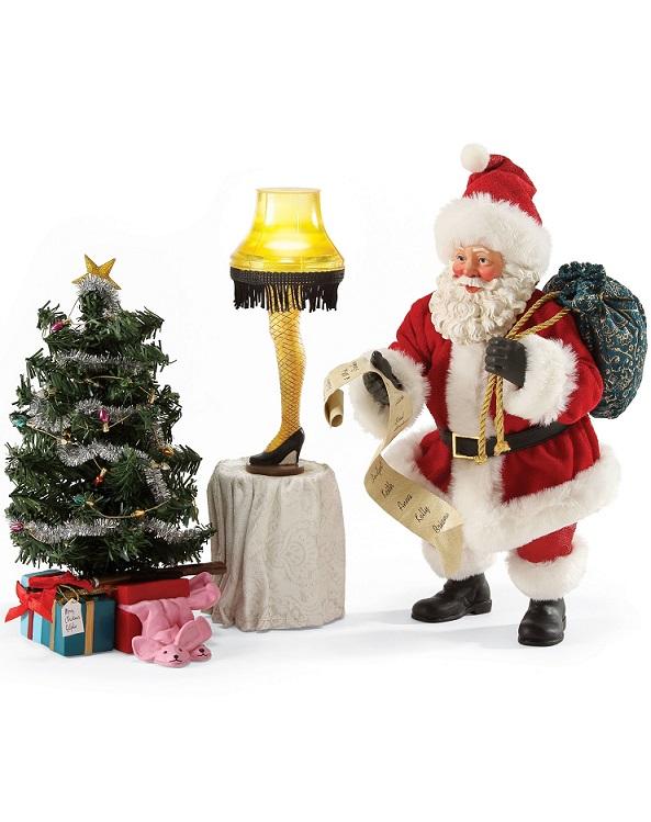 a christmas story santa clothtique sculpture set 3