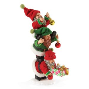 4046539_thePHAGshop_Tree Trimming Elf Trio Collectible Clothtique Sculpture