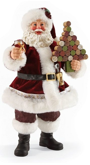 4052104_Santa Wine Clothtique Sculpture- North Pole Pinot