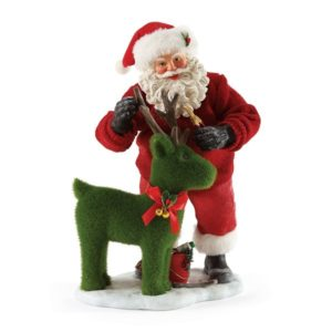 4052127_thePHAGshop_Deer Topiary Garden Santa Collectible Clothtique Sculpture