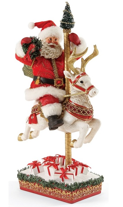 4052440_thePHAGshop_Carousel Santa Clothtique Sculpture- Ruby Anniversary