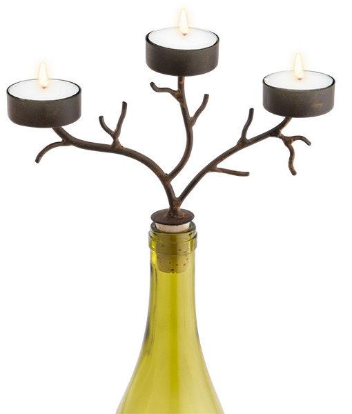 42-264_thePHAGshop_Three Light Branch Bottle Candelabrum- Brown