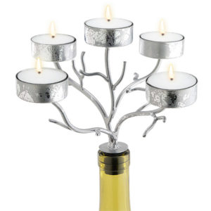 42-273_thePHAGshop_Five Light Branch Bottle Candelabrum- Silver