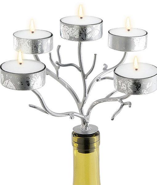 42-273_thePHAGshop_Five Light Branch Bottle Candelabrum- Silver