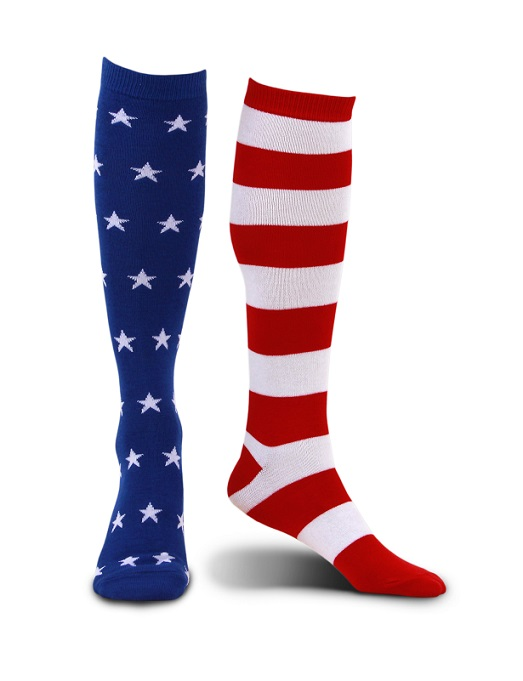 430035_thePHAGshop_Novelty American Flag Socks- Knee High