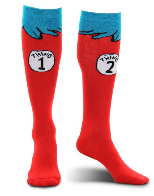 430042_thePHAGshop_Novelty Thing 1 and Thing 2 Socks- Knee High