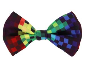 430205_thePHAGshop_Novelty Rainbow Pixel Bow Tie