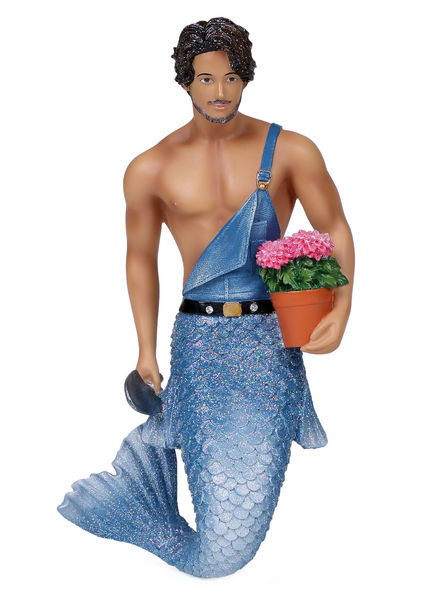 55-55039_thePHAGshop_Collectible Sexy Gardener MerMan Ornament- Home Grown