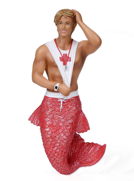 55-55044_thePHAGshop_Collectible Sexy Lifeguard Merman Ornament