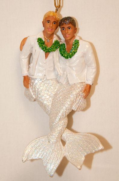 55-90824_thePHAGshop_Two Grooms MerMan      Ornament