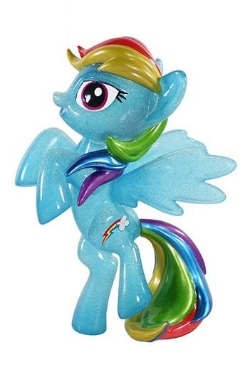 6029 Hikari Sofubi Figure- Original Glitter Rainbow Dash