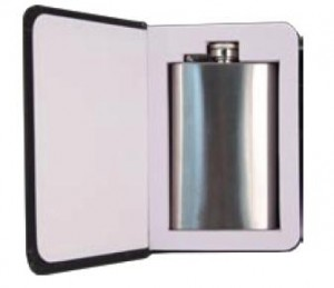 6oz Book Flask Interior