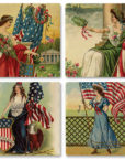 77-122_thePHAGshop_Ladies of Liberty Ceramic Coasters- Set 4