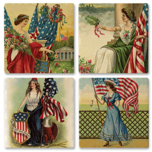 77-122_thePHAGshop_Ladies of Liberty Ceramic Coasters- Set 4
