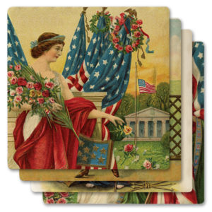 77-122_thePHAGshop_Ladies of Liberty Ceramic Coasters- Stacked