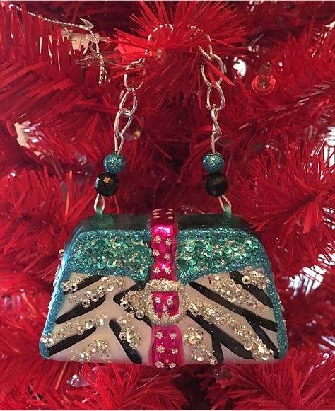 79-79890_thePHAGshop_Blown Glass Zebra Purse Ornament- Diva Collection