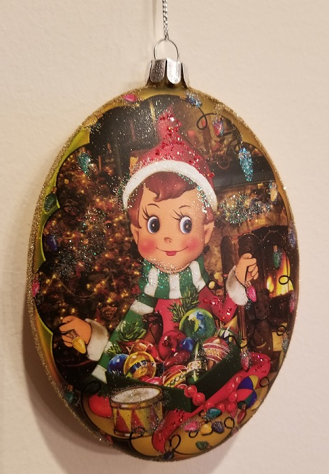 79-80593_thePHAGshop_Retro Nostalgic Elf Ornament- Oval