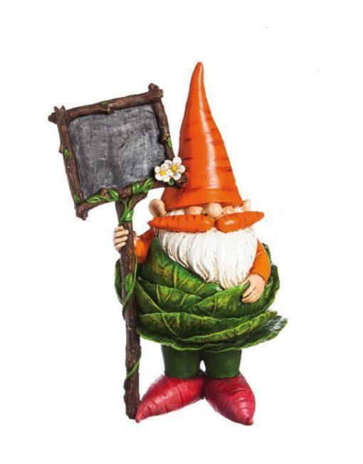 845912_thePHAGshop_Veggie Garden Kitchen Gnome with Chalckboard- Cabbage
