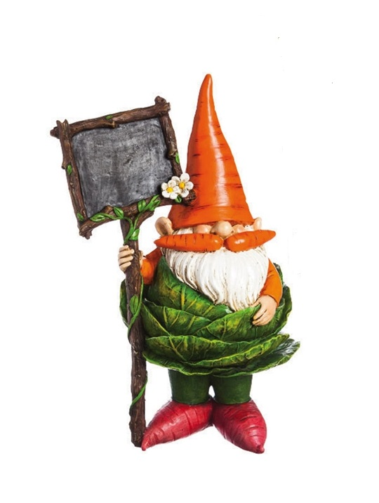 845912_thePHAGshop_Veggie Garden Kitchen Gnome with Chalckboard- Cabbage