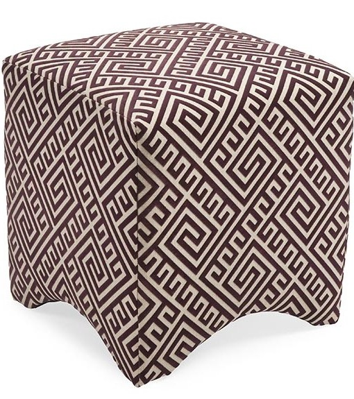 89750 Geometric Ottoman- Purple