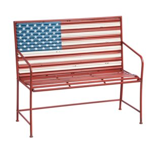8MB026_thePHAGshop_Metal American Flag Bench