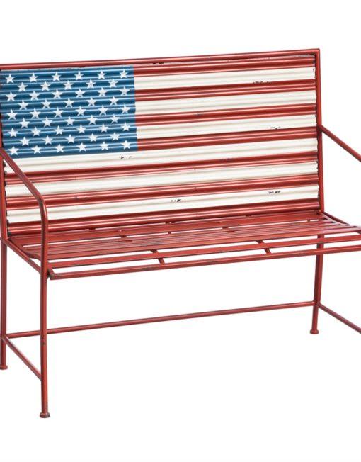8MB026_thePHAGshop_Metal American Flag Bench