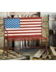 8MB026_thePHAGshop_Metal American Flag Bench- ALT