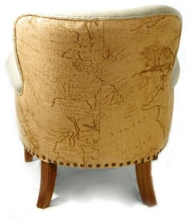 AC3189 Linen Map Chair- Back