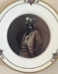 Altered Antique Plate- Dr. Steampunk