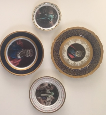 Altered Antique Plate Ensemble